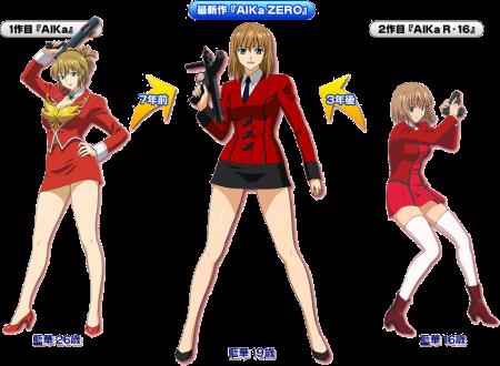 """O como indica a imagem, Aika ZERO será a """"ligação"""" entre Aika R-16 e Agent Aika."""